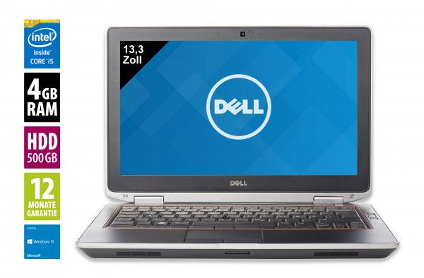 Dell Latitude E6320 - 13,3 Zoll - Core i5-2640M @ 2,8 GHz - 8GB RAM - 128GB SDD - DVD-RW - WXGA (1366x768) - Win10Pro