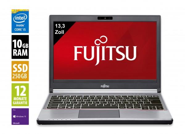 Fujitsu Lifebook E734 -13,3 Zoll - Core i5-4300M @ 2,6 GHz - 10GB RAM - 250GB HDD - DVD-RW - WXGA (1366x768) - Win10Pro