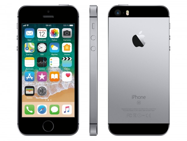 Apple iPhone SE - 32GB - Space Grey - Ohne Ladegerät - Grade A